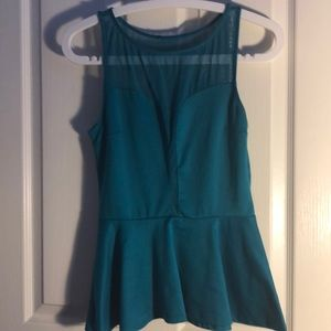 Turquoise Strapless Shirt